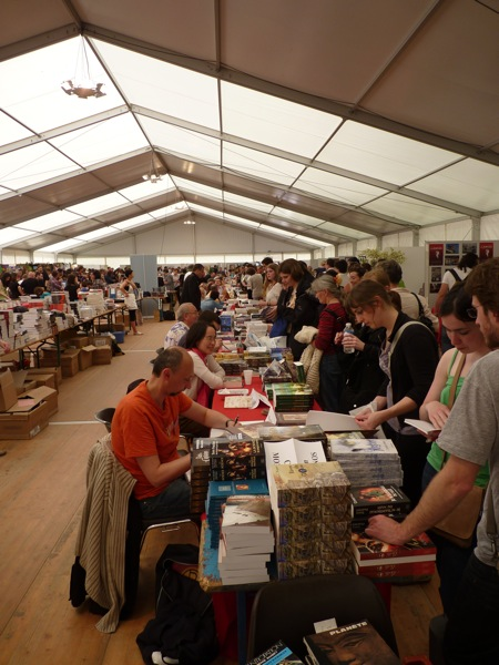 The book tent